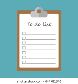 To do list concept flat icon