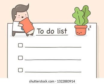 To do list. Cute doodle illustration.