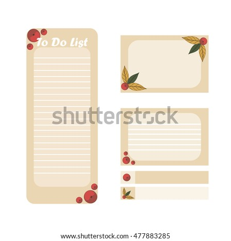 do list cute page notes vector stock vector royalty free 477883285