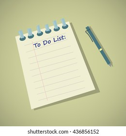 To do list inscription written on Notepad - Vector illustration