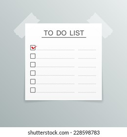 to do list paper sticky note tape