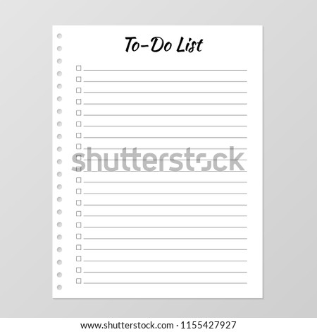 do list template daily planner page stock vector royalty free