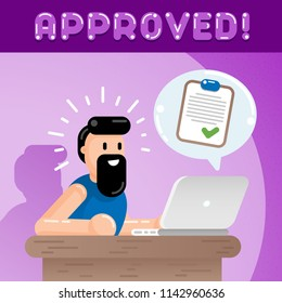 To Do List Visa Loan Application Approved Online Bureaucracy Form Submission Flat Vector Art Design Illustration