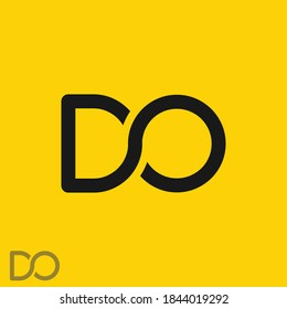 DO logo design with letter D and O in vector format. OD or DO logo