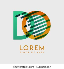 DO logo with the theme of galaxy speed and style that is suitable for creative and business industries. OD Letter Logo design for all webpage media and mobile, simple, modern and colorful