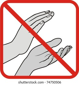 do not applauding - no clapping hand,