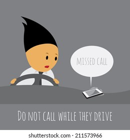 Do not call while they drive, Safe driving campaign.