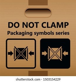 Do not clamp symbols for use on boxes, packages and parcels