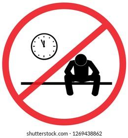 Do not Count down alone sign. Not Allowed Sign, warning symbol, road symbol sign and traffic symbol design concept, vector illustration.illustration.