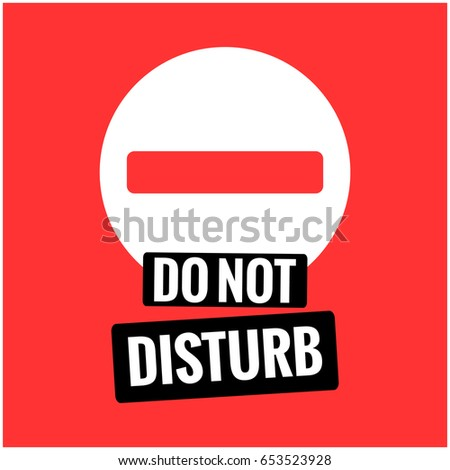 do not disturb sign flat style stock vector royalty free 653523928