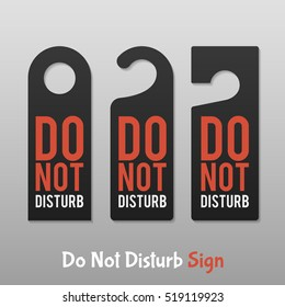 Do Not Disturb Sign. Hotel Door Hanger Tags.Isolated on gray background