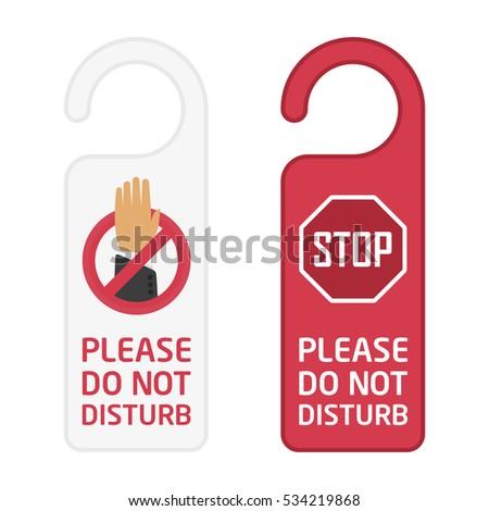 do not disturb sign hotel door stock vector royalty free 534219868