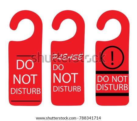 do not disturb sign multicolored hotel stock vector royalty free