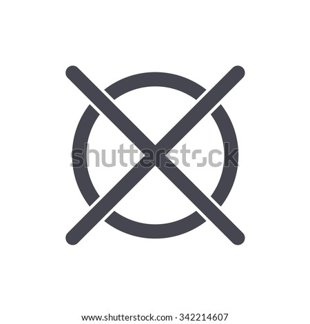 Do Not Dry Clean Washing Sign Stock Vector Royalty Free 342214607