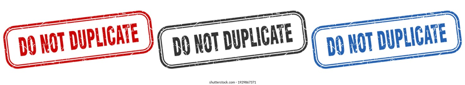 do not duplicate square isolated sign set. do not duplicate stamp