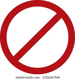 Do not enter icon on a white background