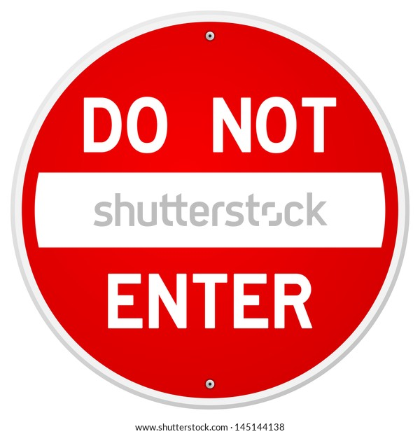 Do Not Enter Sign Stock Vector (Royalty Free) 145144138