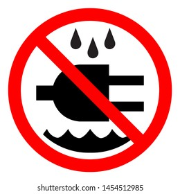 Do Not Expose To Wate Symbol Sign, Vector Illustration, Isolate On White Background Label .EPS10