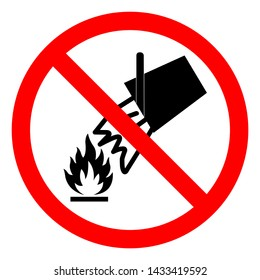 Do Not Extinguish With Water Symbol Sign, Vector Illustration, Isolate On White Background Label .EPS10