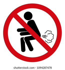 Do not fart red sign vector