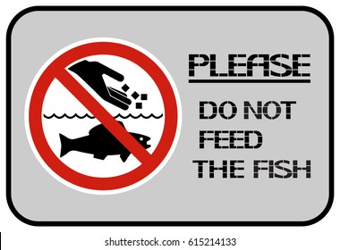 Do not feed the fish. It is not recommended to give food that is not characteristic of aquatic animals.