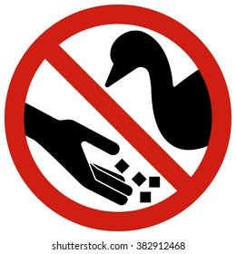 Do not feed the geese, ducks and swans. Do not change the physiological need for food,is enforced from outside.