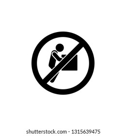 Do not lift weight sign icon. Simple glyph, flat vector element of ban,prohibition,forbid icons set for UI and UX, website or mobile application