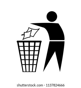 Do not litter icon great for any use. Vector EPS10.