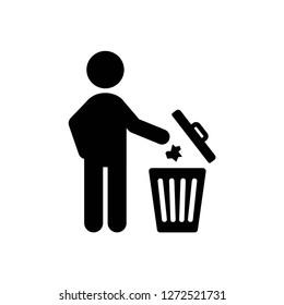 do not litter icon, vector on white background editable eps10