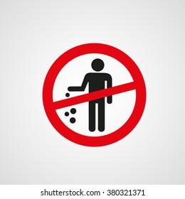Do not litter sign (no littering)