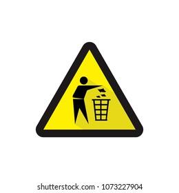 Do not litter sign vector