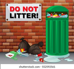Do not litter with trash