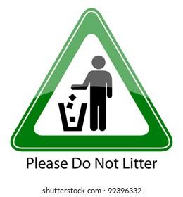 Do not litter vector sign, eps10 illustration