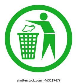 Do not litter.vector sign