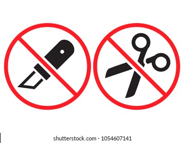 Do not open with a knife or scissors. Vector illustration.