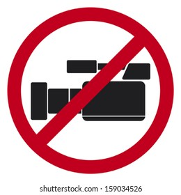 do not record video sign