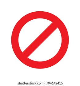 do not sing on white background vector illustration
