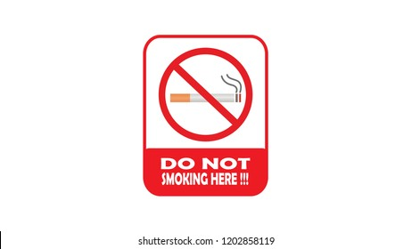 Do Not Smoking Here atention vector