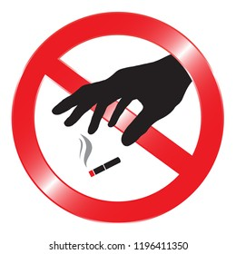 Do not throw cigarette butts.
