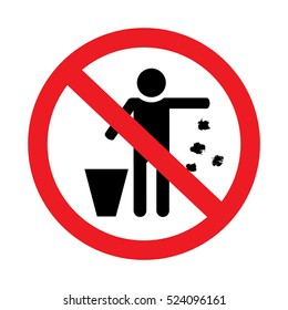 Do not throw rubbish sign