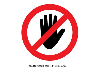 Do not touch icon. Vector illustration