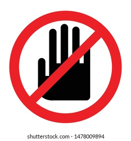 DO NOT TOUCH sign illustration
