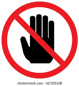 Do Not Touch Sign. Vector.