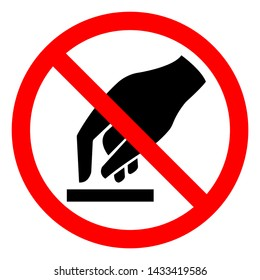 Do Not Touch Symbol Sign, Vector Illustration, Isolate On White Background Label .EPS10