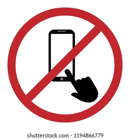 Do not use the phone icon. Vector concept illustration for design.