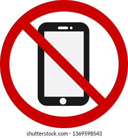 Do not use phone sign in vector