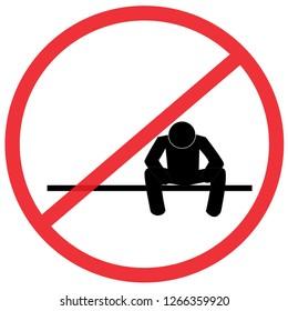 Do not worry sign. Not Allowed Sign, warning symbol, road symbol sign and traffic symbol design concept, vector illustration.illustration.
