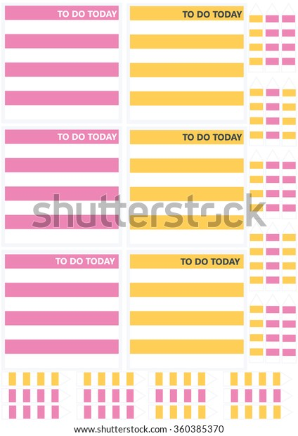 photo relating to Printable Notepads identified as Do At present Printable Memo Notes Arrowsbookmarks Inventory Vector