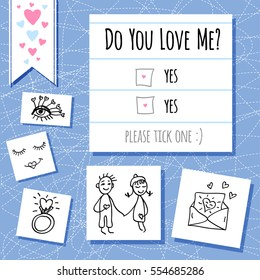 Do You Love Valentines Day Funny Stock Vector Royalty Free