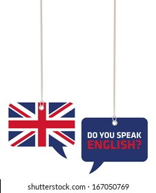Do You Speak English Concept on Speech Bubbles